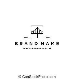 diseño, vector, puente, logotipo