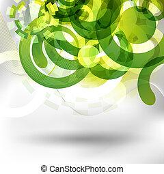 Diseño verde futurista