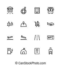 diseño, viaje, icono