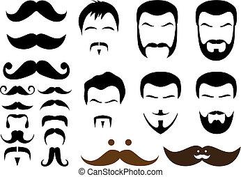 diseños, bigote