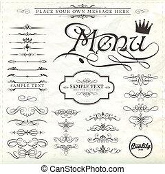 Diseños caligráficos y decoración de páginas