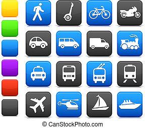 Diseños de íconos de transporte