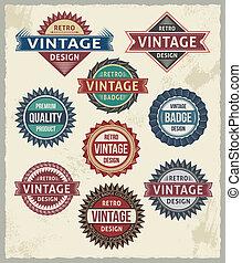 Diseños de etiquetas vintage de Retro