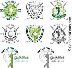 Diseños de logo del club de golf verde