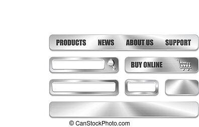 Diseños de sitios web metálicos