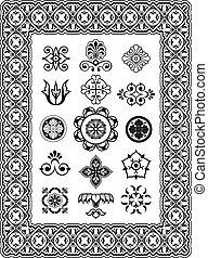 Diseños de vectores ornamentales monogramas