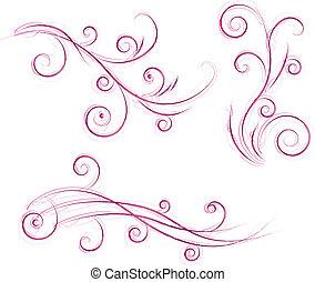 Diseños florales de Swirls