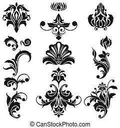 Diseños florales decorativos