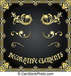 Diseños florales decorativos y adornos