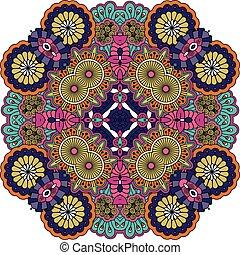 Diseños geométricos de colores sobre fondo blanco