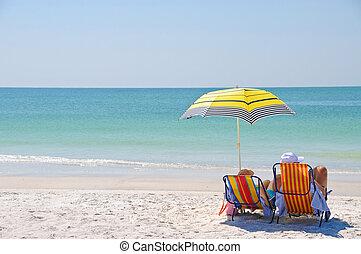 Disfrutando un día en la playa