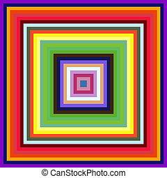 Disminuyen el tamaño de cuadros cuadrados de fondo abstracto.