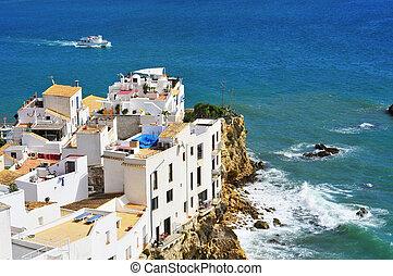 Distrito de Sa penya en Ibiza, islas balearicas, España