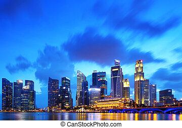 distrito financiero, singapur