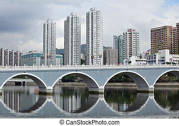 Distrito residencial en Hong Kong