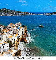 Distrito Sa penya en Ibiza, islas bálticas, España