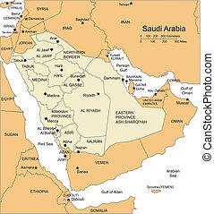 distritos, arabia, capitales, administrativo, circundante, saudí, países