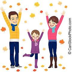 Diversión de otoño familiar