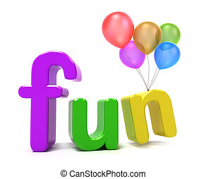 diversión, palabra, colorido, cartas