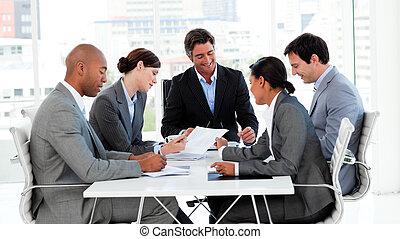 diversidad, empresa / negocio, actuación, grupo, étnico, reunión