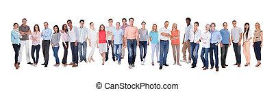 diverso, grupo, gente