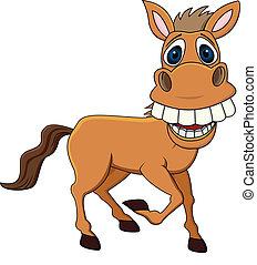 divertido, caballo