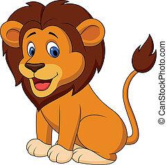 Divertido caricatura de león