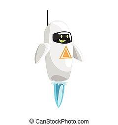 Divertido dibujo animado vector de personaje de personaje Ilustración