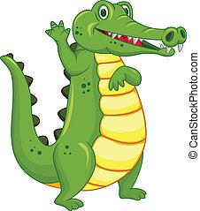 Divertido dibujo de cocodrilo