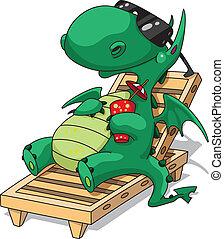 Divertido dragón de relajación