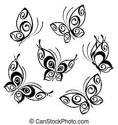 Divertido episodio de mariposa tropical.
