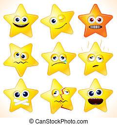 divertido, estrellas