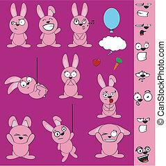 Divertido juego de caricaturas del conejito