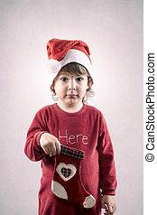 Divertido niño de Navidad