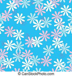 Divertido patrón de flores