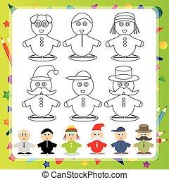 Divertido personaje de dibujos animados: ilustración de Vector