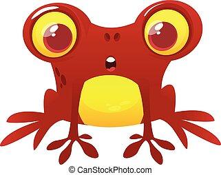 Divertido personaje de rana. Ilustración de vectores