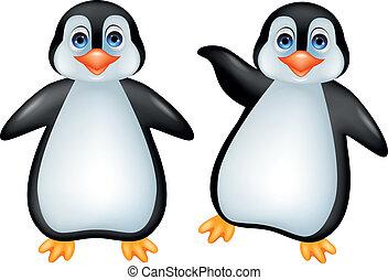 divertido, pingüino