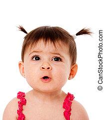 Divertido rostro de bebé
