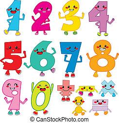 Divertidos números de caricatura