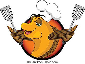 Divertidos peces cocineros