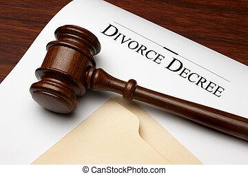 divorcio, decreto