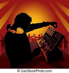 DJ en acción