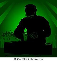 DJ en el trabajo
