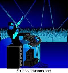 DJ fiesta azul