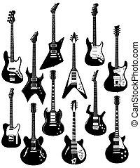 Doce guitarras eléctricas