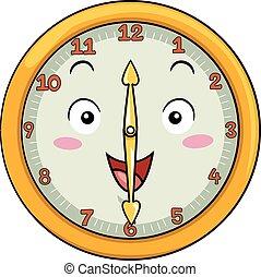 doce, reloj, después, mascota, treinta