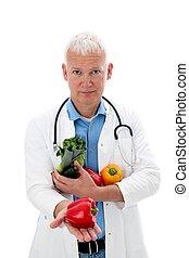 Doctor con verduras