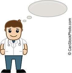 Doctor Pensando - caricatura médica