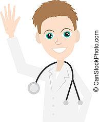 Doctor saludando